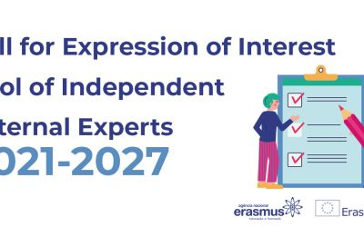Erasmus+: Call for Expression of Interest, to set up a pool of independent external experts
