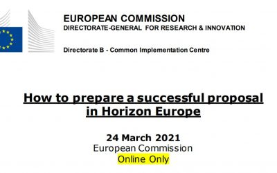 """(Re)Watch the webinar on """"How to prepare a successful proposal in Horizon Europe"""""""