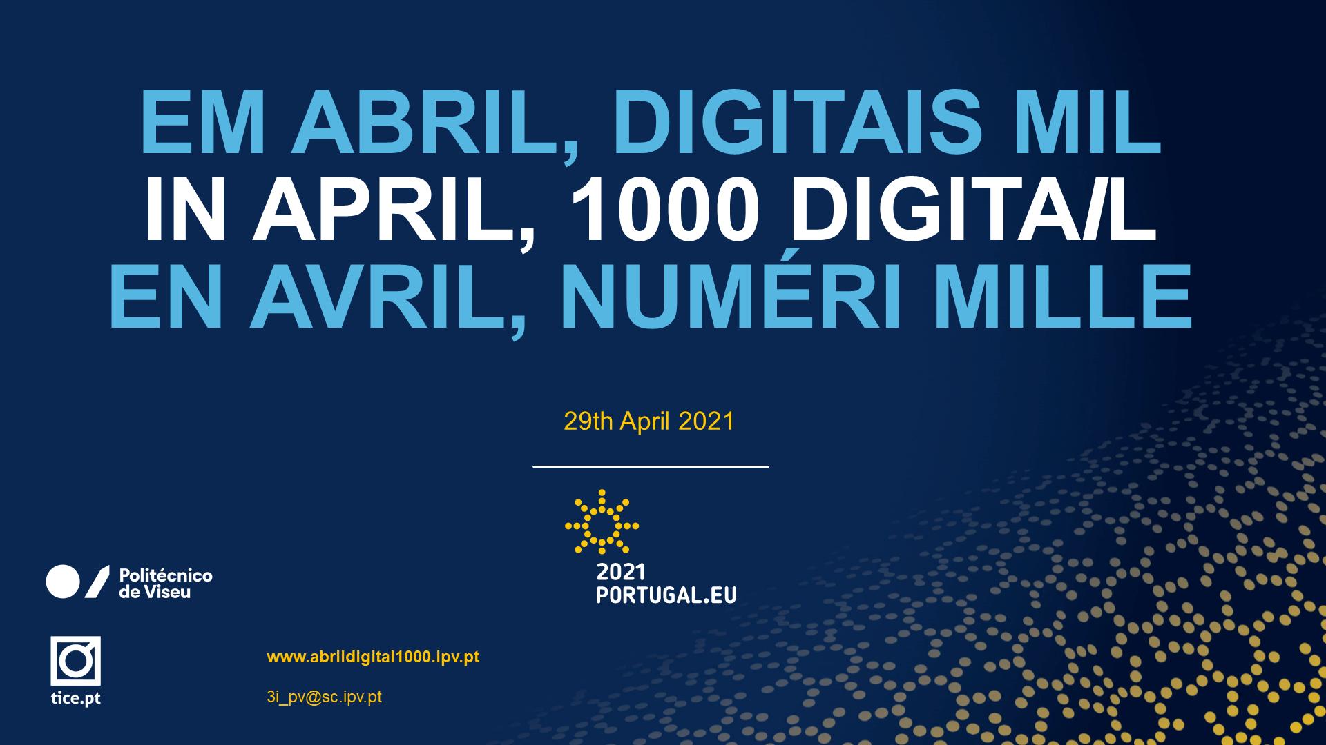 In April, 1000 digitail!