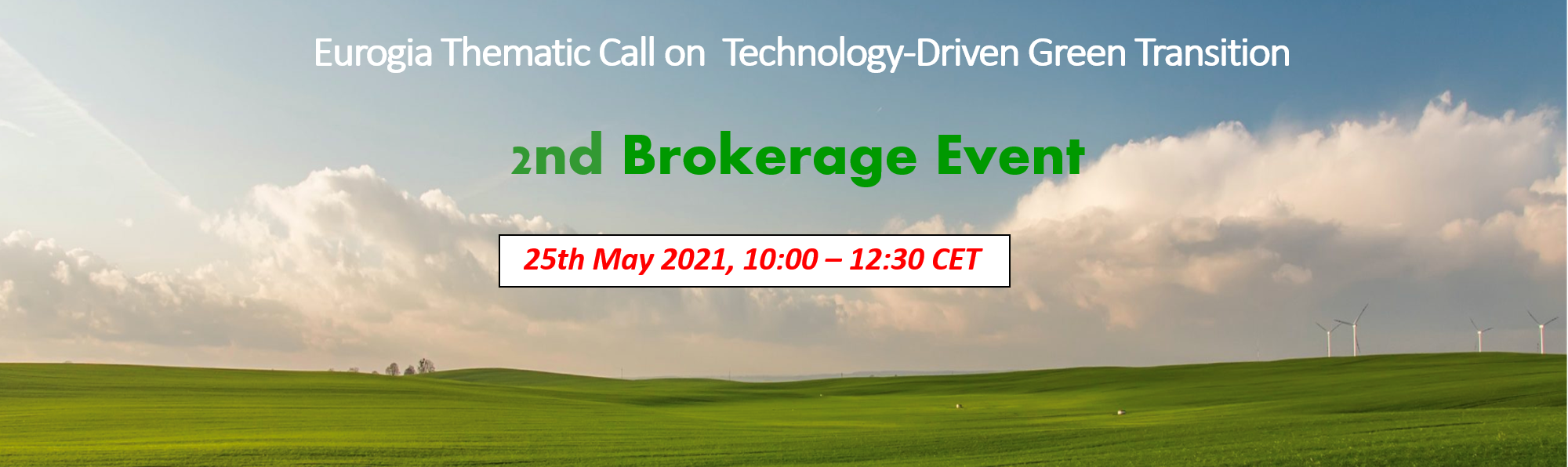 Green Transition Call – Brokerage Event